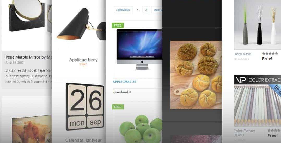 Top websites for download free 3D Models