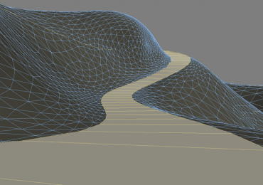 Several ways for creation of road in 3DsMax
