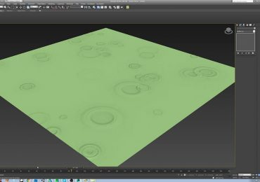 How to simulate the impact of water drops on 3Dsmax