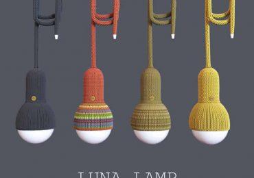 Knitted Luna Lamp | Philipp Redblackov