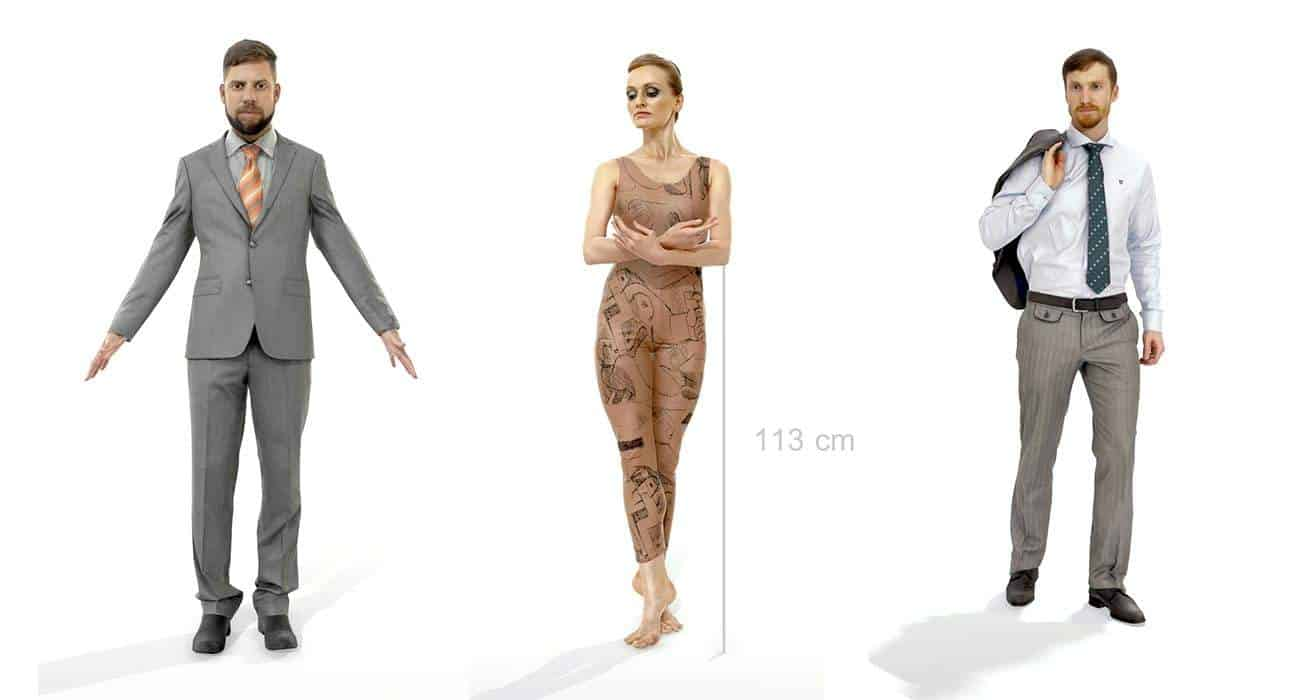 Free 3d Scanned People Axyz Design