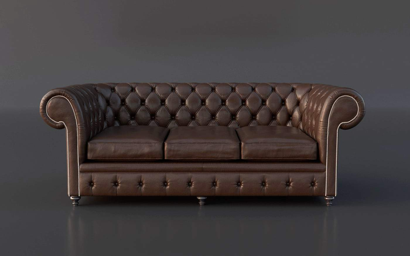 Chesterfield couch 3d model gonzalo briceno tugues for Mobel 3d download