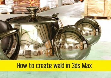 How to create weld in 3ds Max