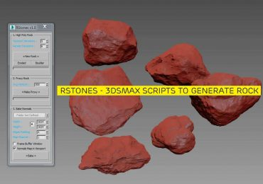 RSTONES | 3Dsmax scripts to generate rock model