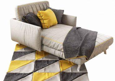 Free High-poly 3D Lounging Sofa Model | Ceren Topsakal