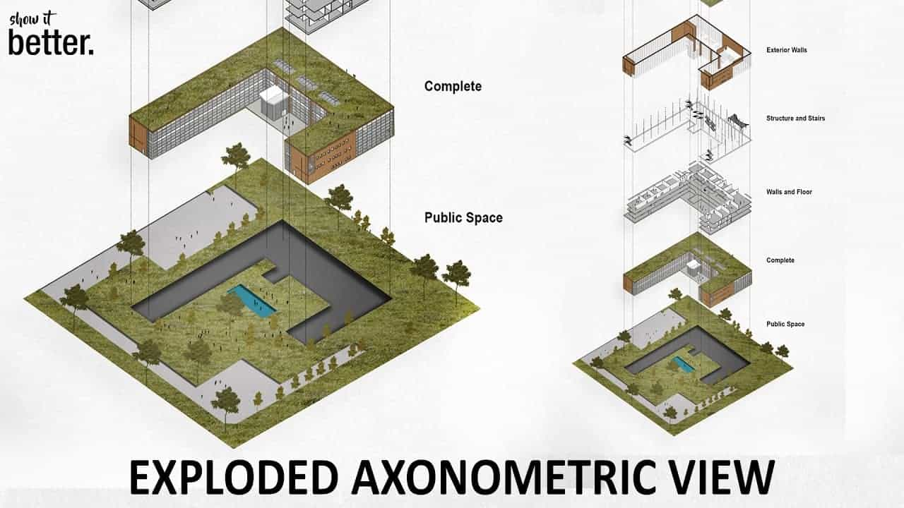 How To Exploded Axonometric View in Photoshop | Show It Better