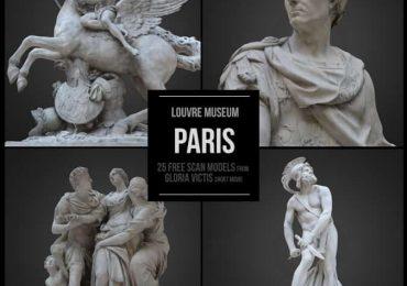 25 Free 3D sculptures from Louvre Museum | Benjamin Bardou