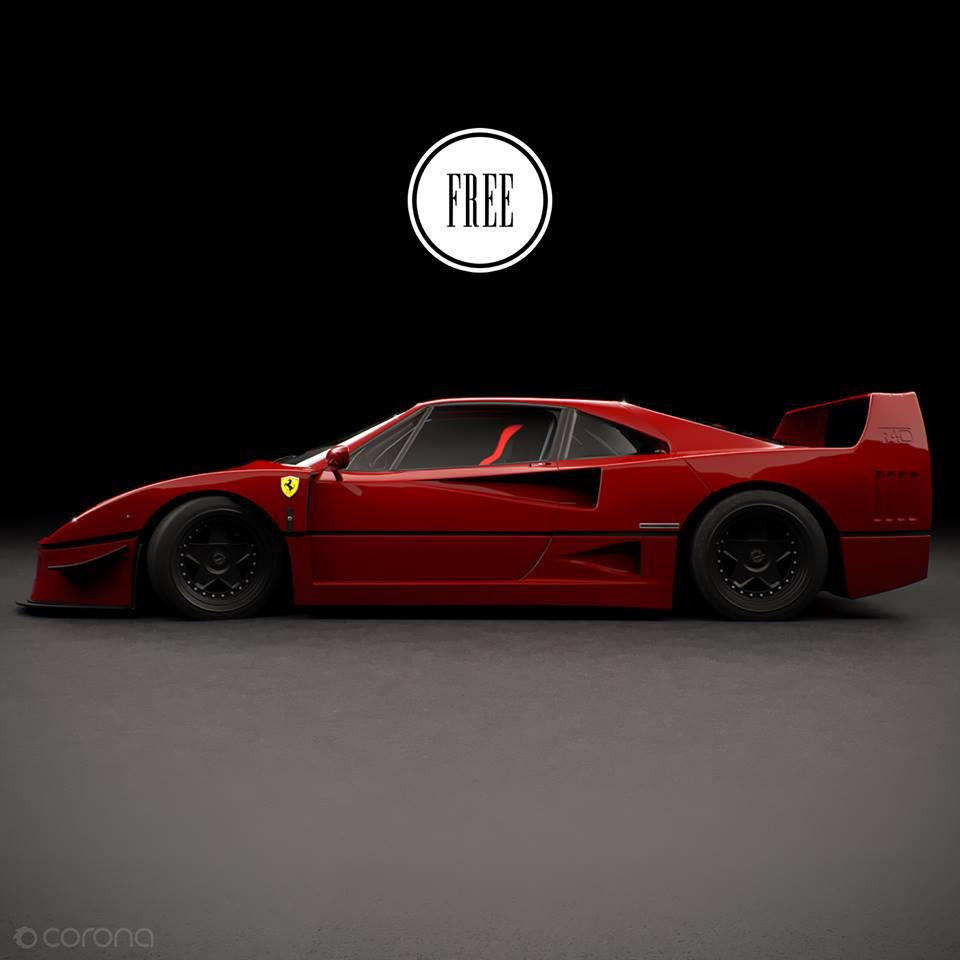 Ferrari F40: Free Model 3D Ferrari F40