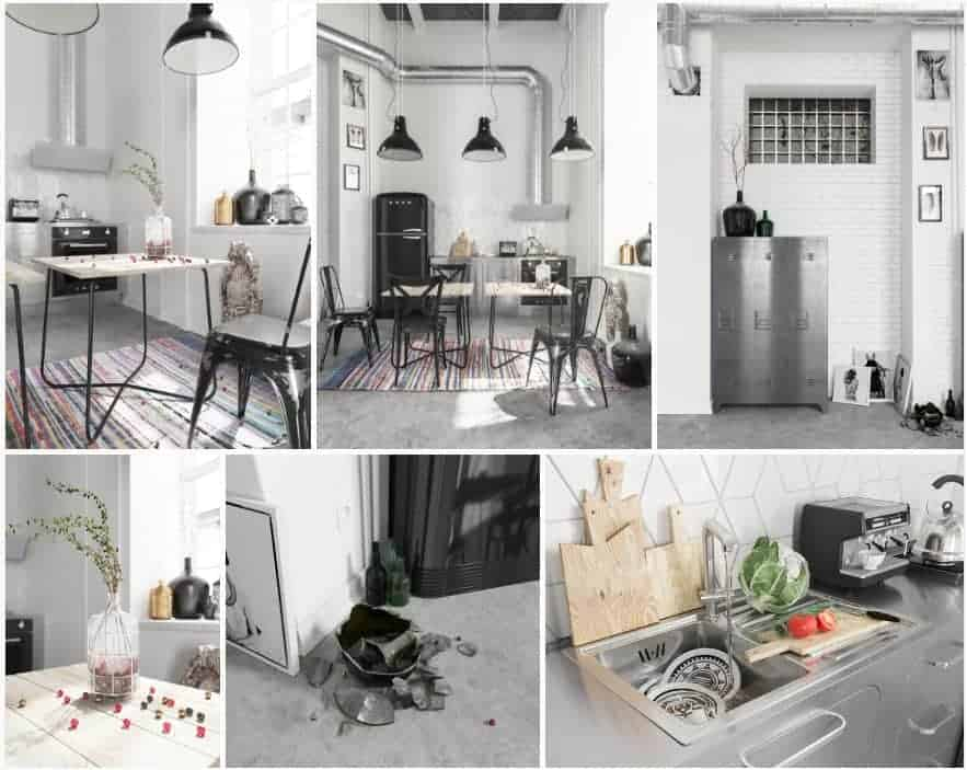 Free 3D Models Corona Loft Kitchen | V. Tomashchuk U0026 I. Tomashchuk Studio