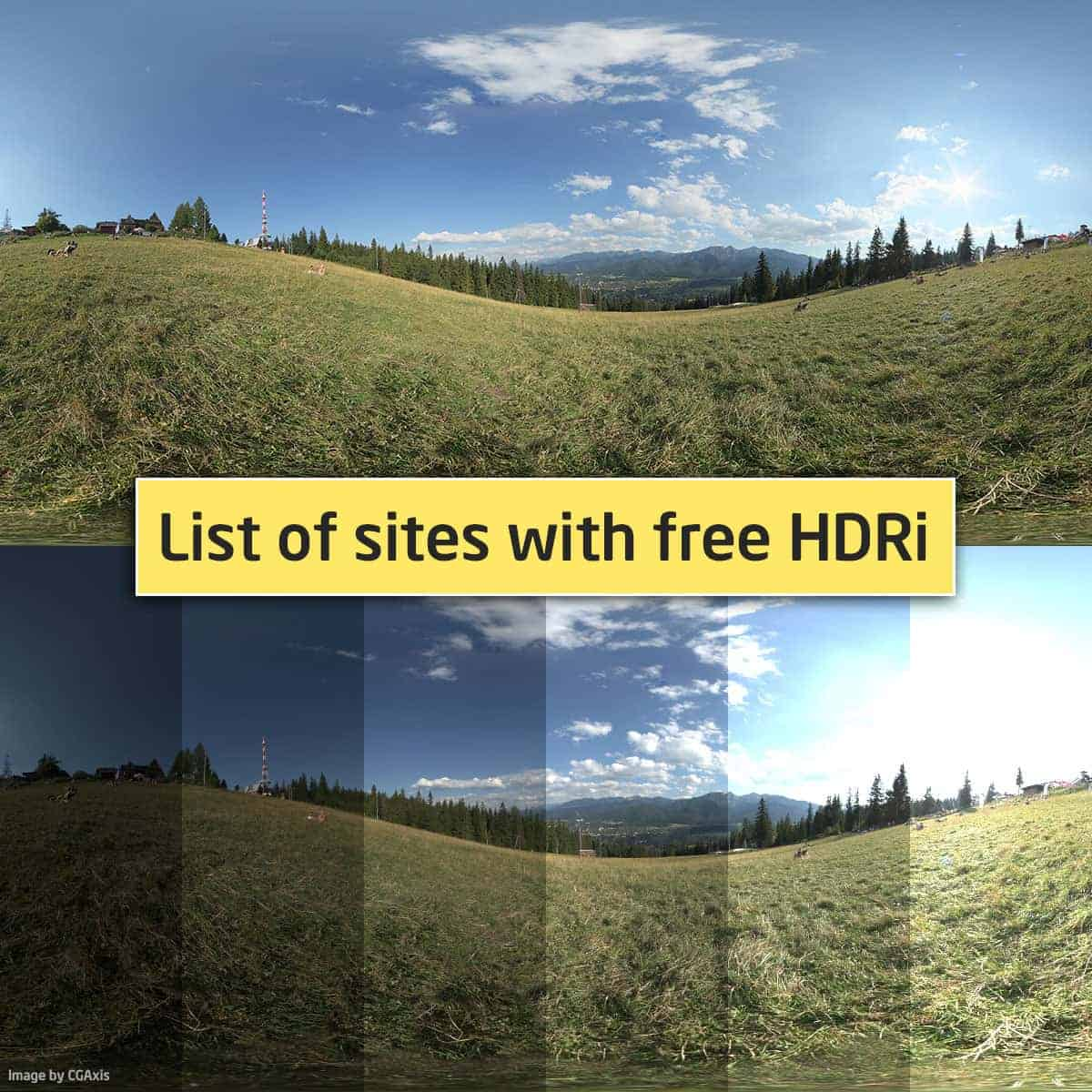 List of sites with free HDRi