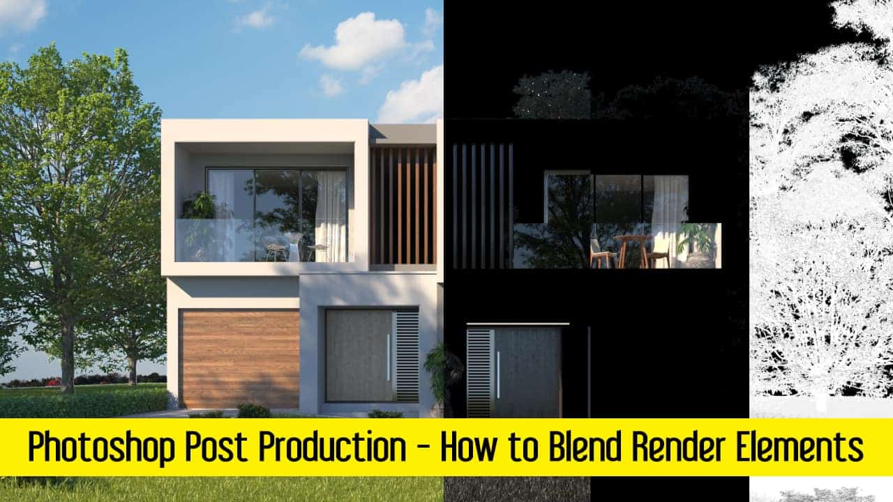 Post production in Photoshop   How to Blend Render Elements