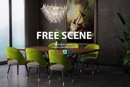 Sofa Modeling In 3ds Max Free Download  free corona scene region studio