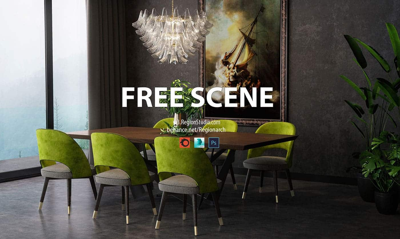 Free Corona Scene Region Studio