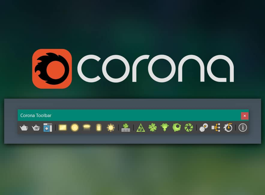 How to create Corona Toolbar in 3dsMax