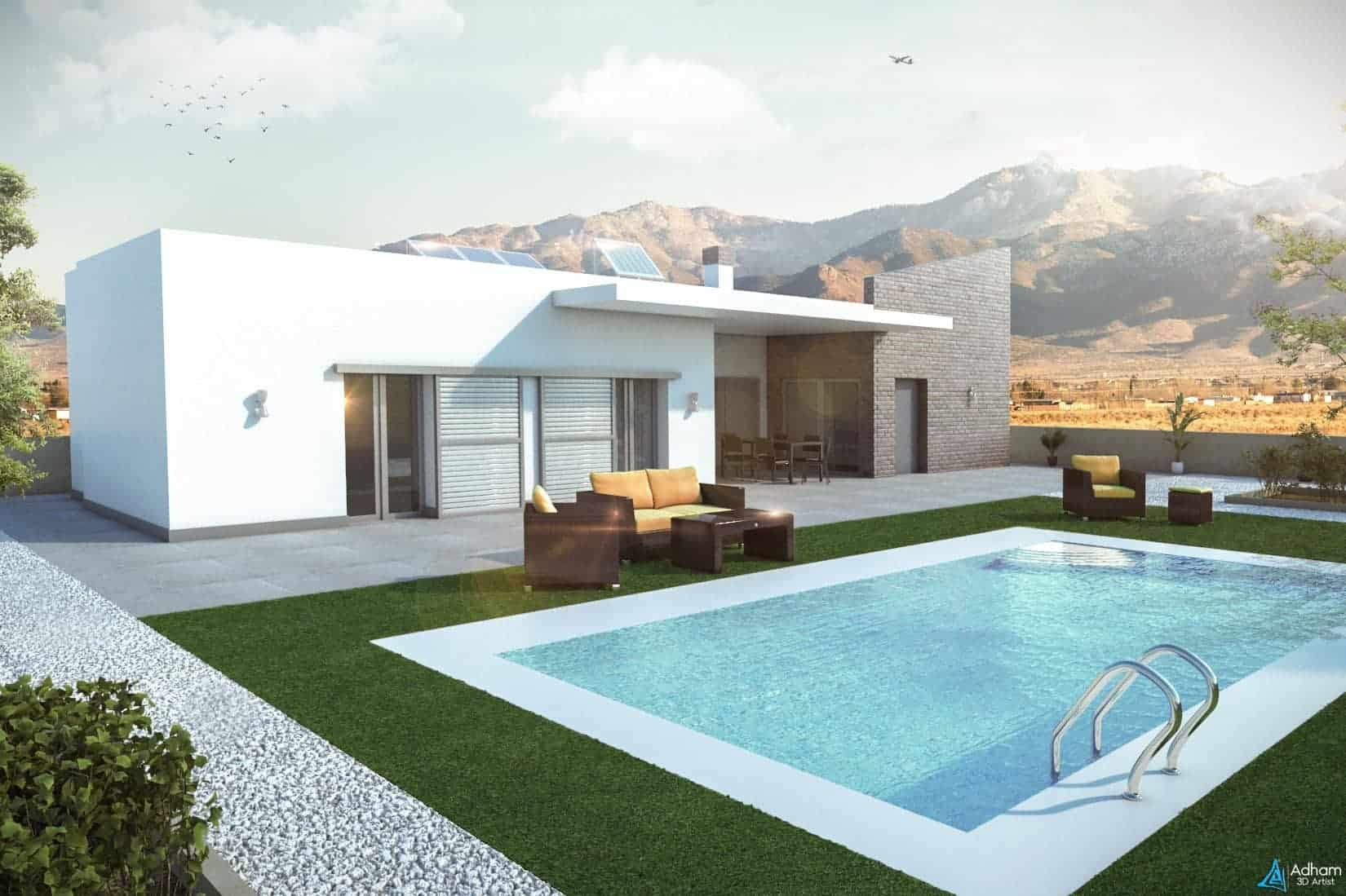 Free exterior 3d scene adham mohamed for 3d pool design online free