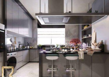 Free 3D Scene- Modern Kitchen | Basel Durgham