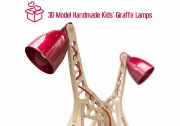 Free 3D Model Handmade Kids' Giraffe Lamps