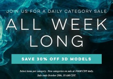 Save 30% on a new category every day this week | Turbosquid