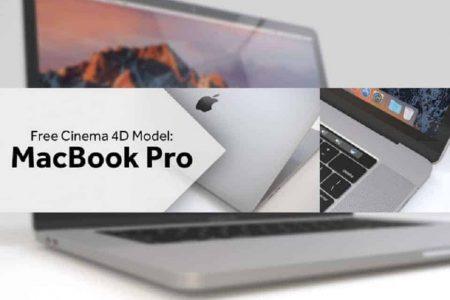 Free Macbook Pro 3D model for Cinema4D | Mattrittman