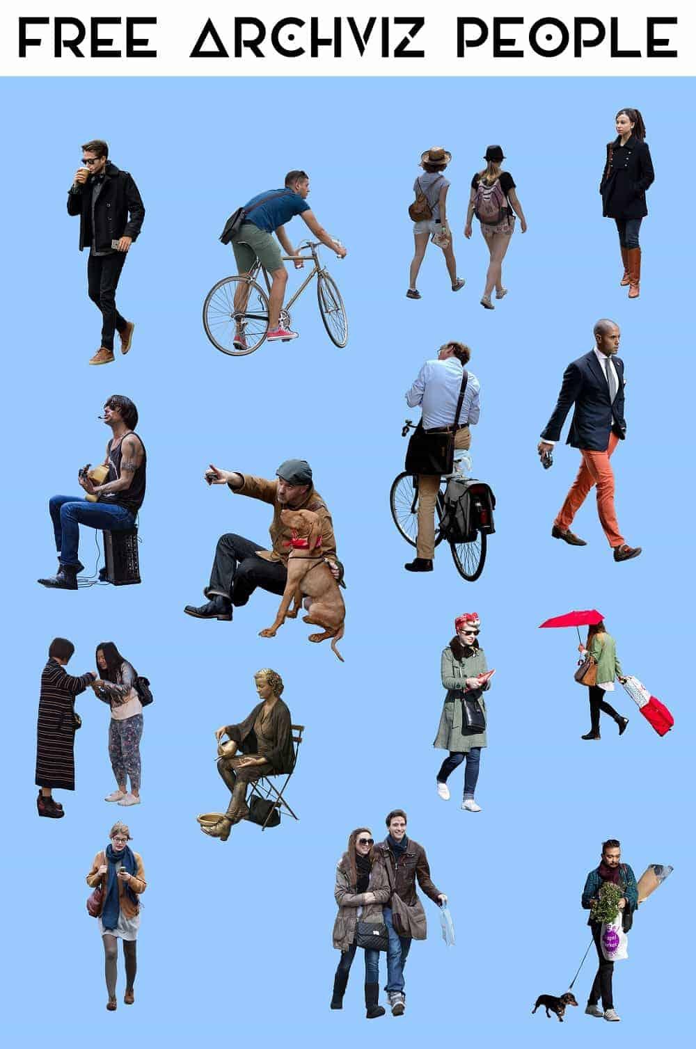free cutout archviz people stardust visual