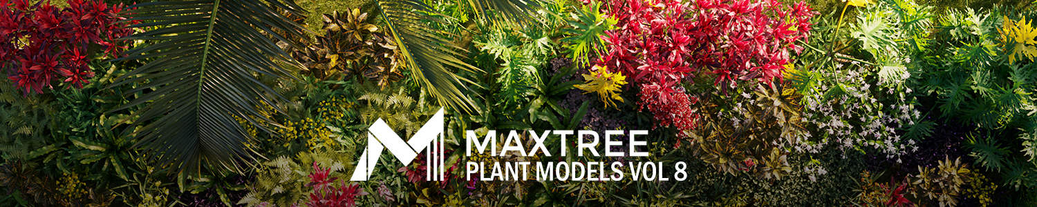Plant models vol8-MAXTREE 1500×300
