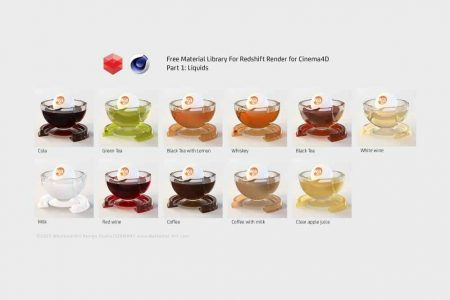 Free Material Library for Redshift Render for Cinema4D