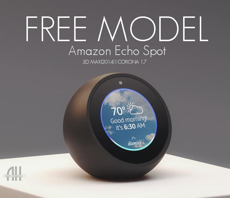 Free 3D Model Amazon Echo Spot   Alberto Hernandez