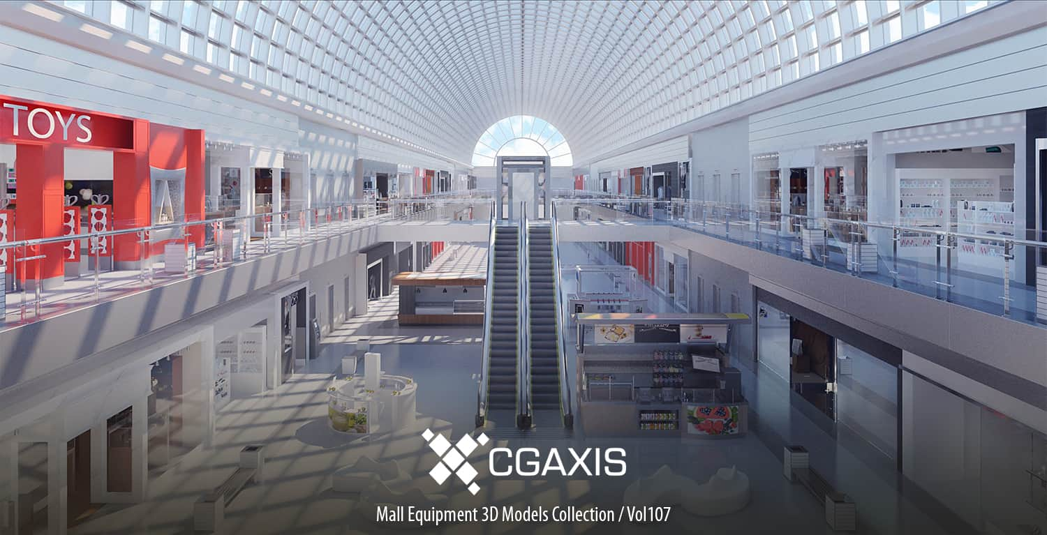 CGAXIS | Mall Equipment 3D Models Collection – Volume 107