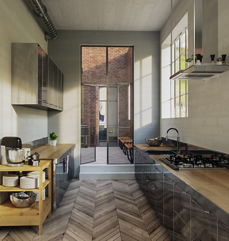 Free 3d kitchen scene for download vray corona aleso3d - Kitchen design software free download 3d ...