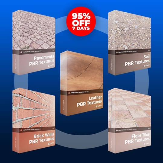 500 PBR Textures Bundle Volume 2 now just $39