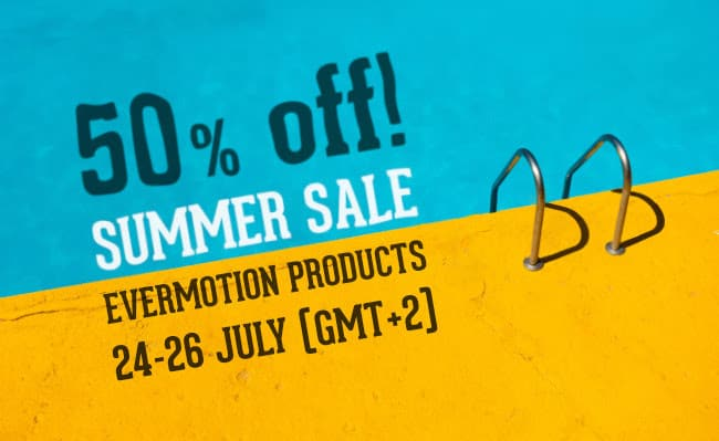 Summer Sale - Evermotion Stuff 50% off