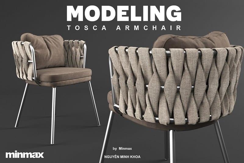 Download Free 3D Model Tosca Armchair | Nguyen Minh Khoa