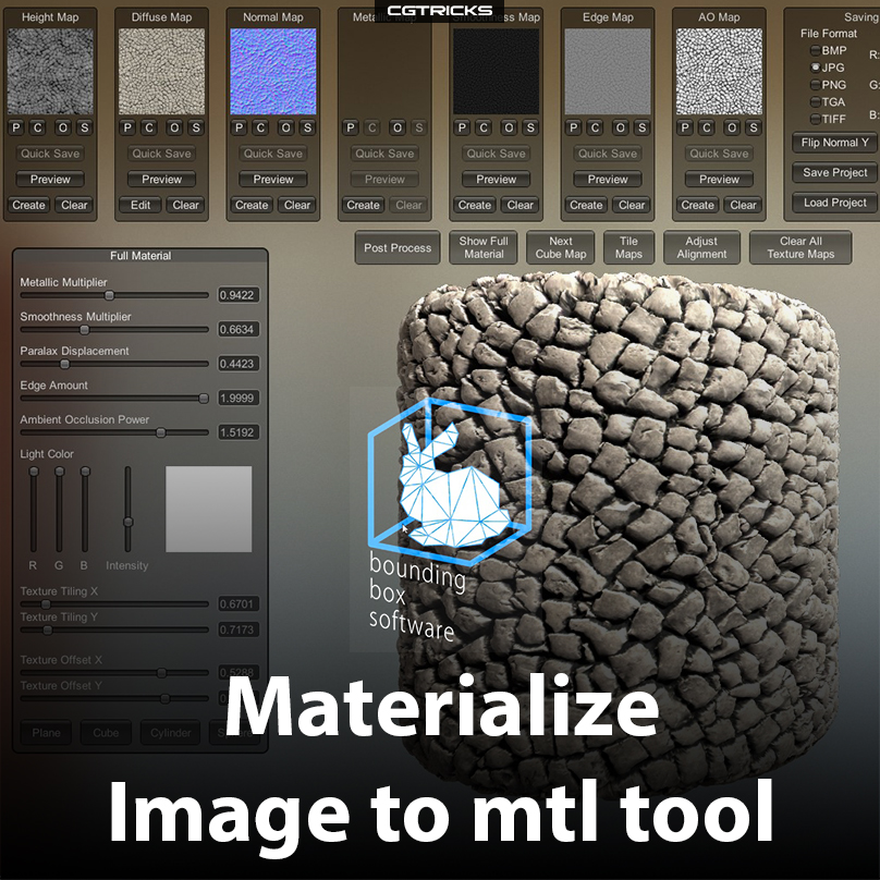 How to Convert Images To Tileable 3D Materials with Materialize