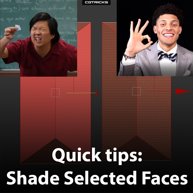 Quick Tips: Shade Selected Faces In The 3dsMax Viewport