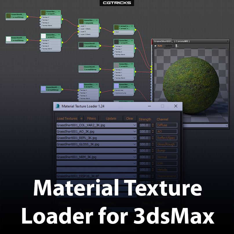 How To Quickly Load PBR Textures In 3dsMax