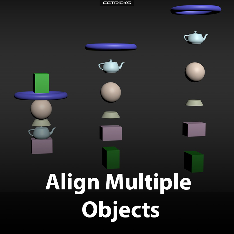 Align Multiple Objects V1.0 | Spline Dynamisc