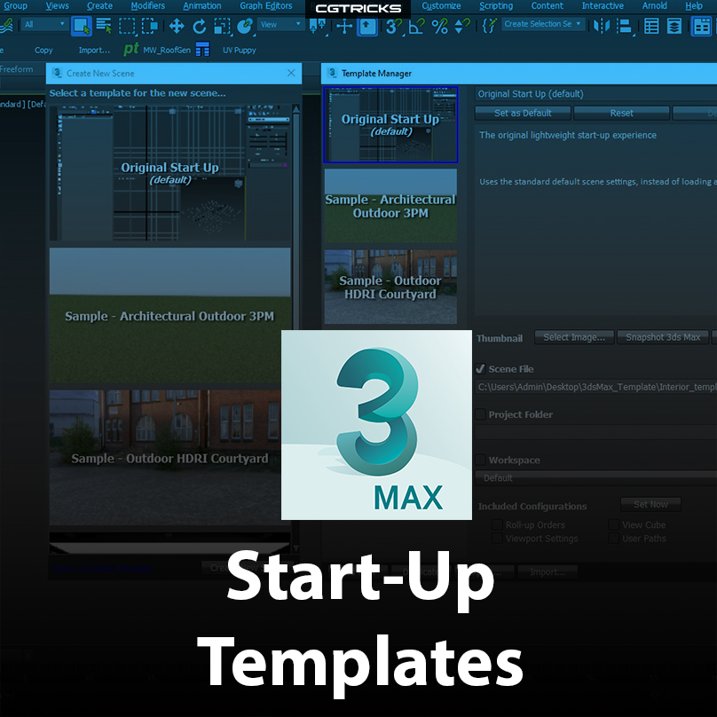 How To Create Custom Start-Up Templates In 3dsMax
