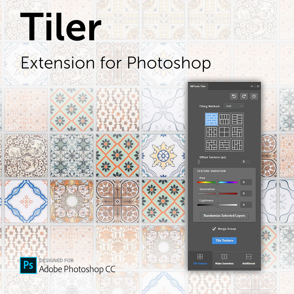 Tiler 3.0 (Extension for Photoshop)