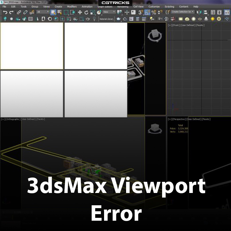 3dsMax Viewport Error | How to fix it?