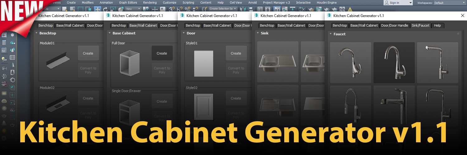 1500×500 | Kitchen Cabinet Generator v1.1