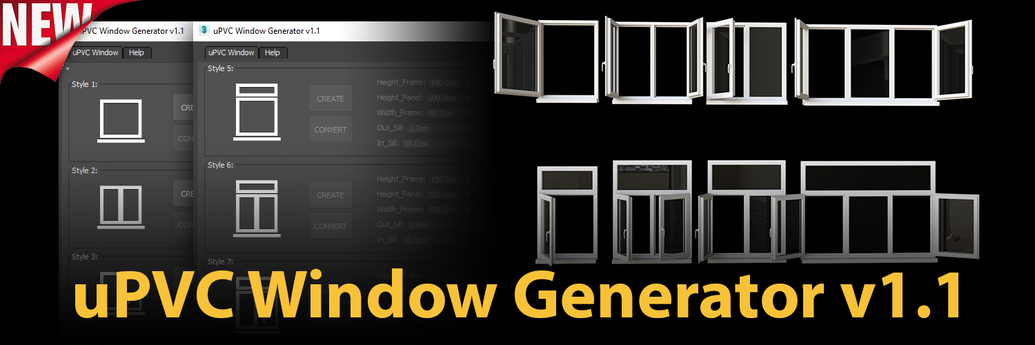 1500×500 | uPVC Window Generator v1.1