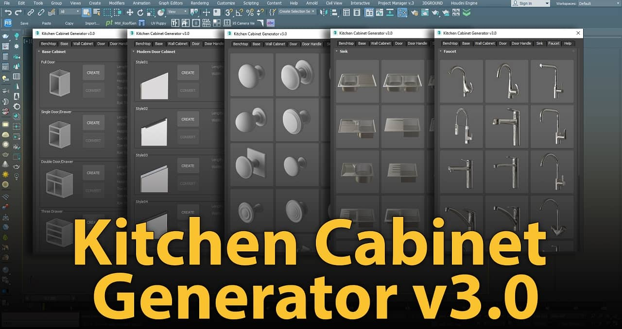 1500×500 | Kitchen Cabinet Generator v3.0