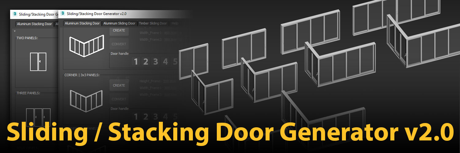 1500×500 | Sliding / Stacking Door Generator v2.0