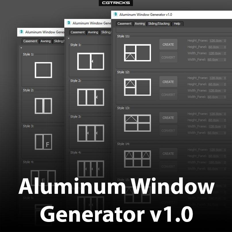 450 x 450 | Aluminum Window Generator v1.0
